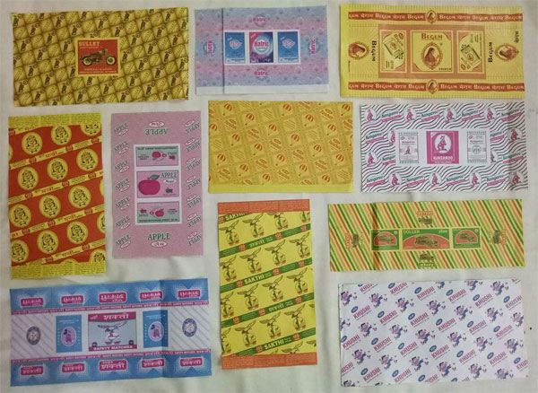 Indian Matchbox Wrappers Collection